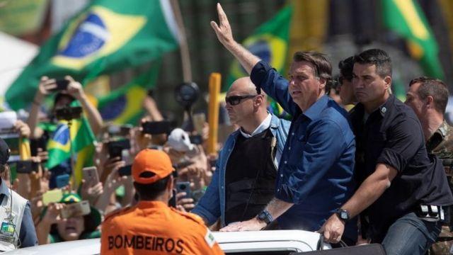 Bolsonaro na manifestação