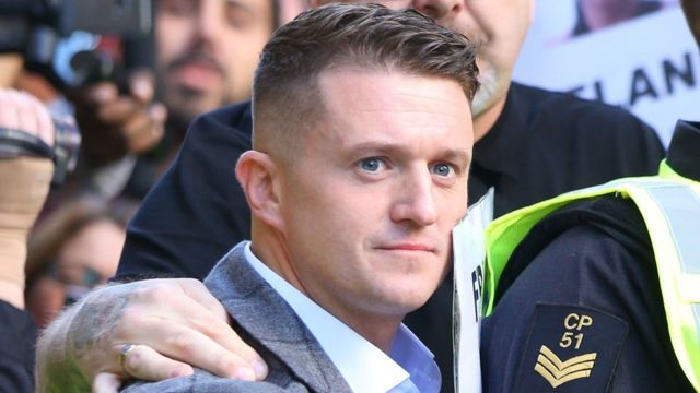 YouTube suspends ads on Tommy Robinson channel