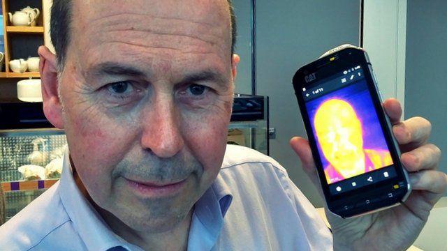 Rory Cellan-Jones takes a thermal selfie
