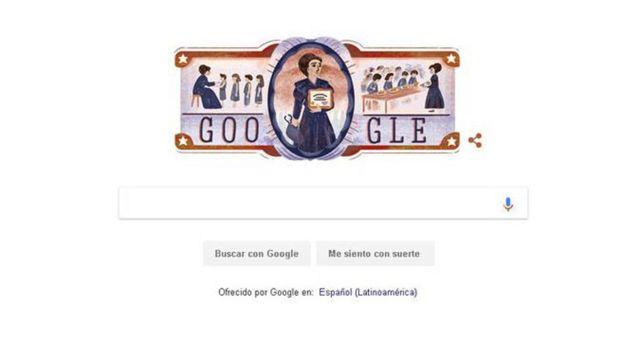 "El ""doodle"" de Google dedicado a Eloísa Díaz"