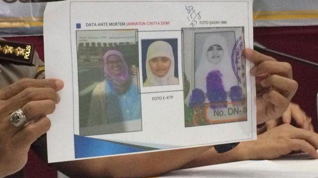 Jenazah diidentifikasi atas nama Jannatun Cintya Dewi.
