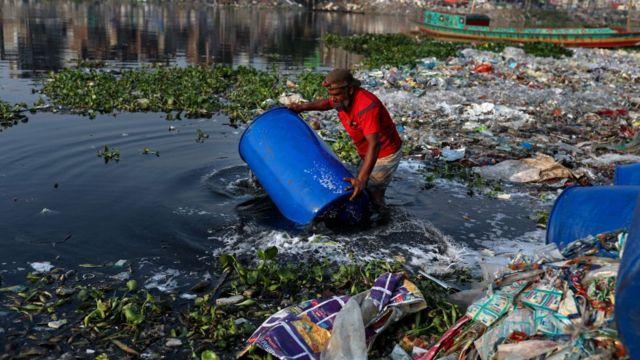 Bangladeş'te nehir kirliliği