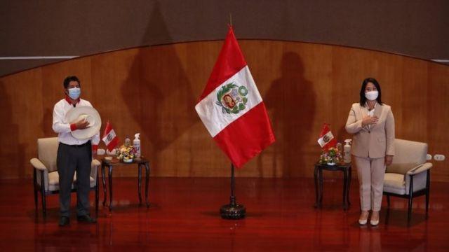 Pedro Castillo y Keiko Fujimori.