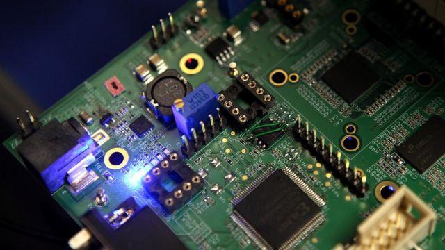 Semiconductor boards are made of silicon
