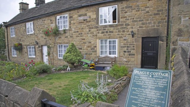 Cottages where villagers died of the plague in Eyam