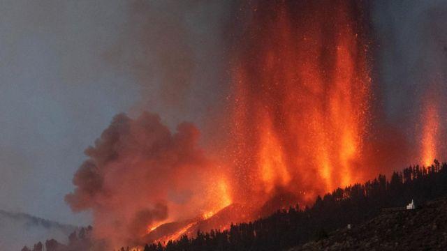 Erupción en el volcán La Palma