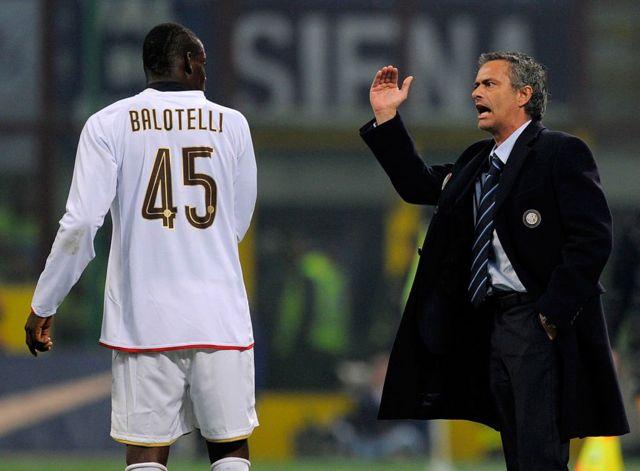 Balotelli ve Mourinho