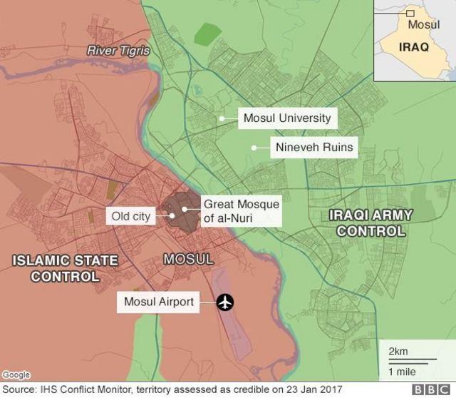 Ingabo za Iraq zishaka gushika ku kibuga c'indege Mosul