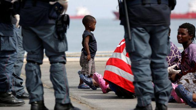 мигранты в Сицилии
