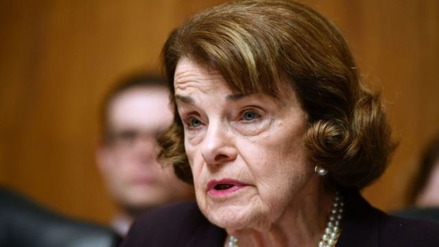 La senadora demócrata Dianne Feinstein