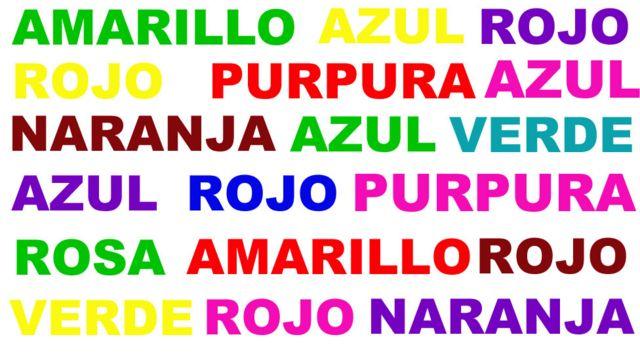 Palabras de colores