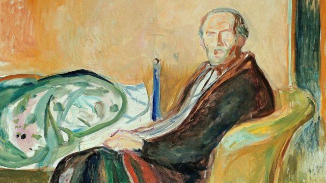 愛德華·蒙克(Edvard Munch)的《患西班牙流感後的自畫像》