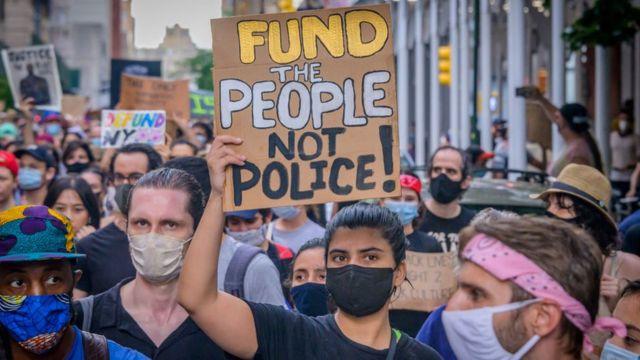 美国示威者