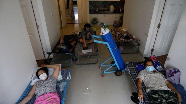Bệnh nhân Covid-19 tại Bệnh viện dã chiến số 6, Thành phố Hồ Chí Minh