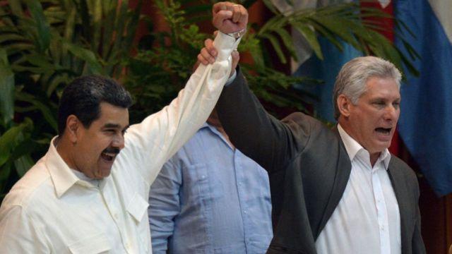 Maduro e Díaz Canel