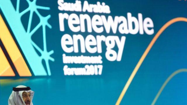 الفالح في افتتاح منتدى الاستثمار في الطاقة المتجددة