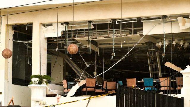 Hotel destrozado