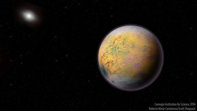 Ilustração do Planeta anão Duende