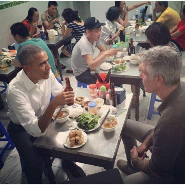 A agora famosa foto do Instagram de Anthony Bourdain