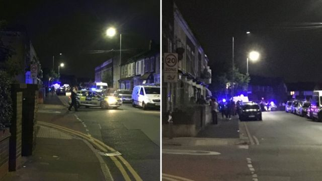 Armed police shot at from car during chase in London