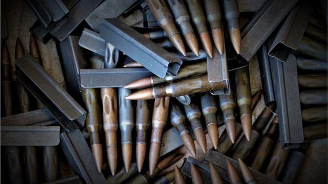 Fotografia de munições