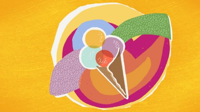 Ilustración de un helado.