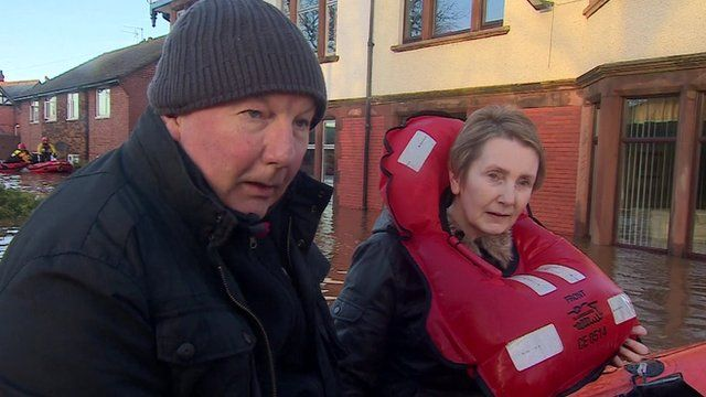 Ron and Denise Wood rescued from their home