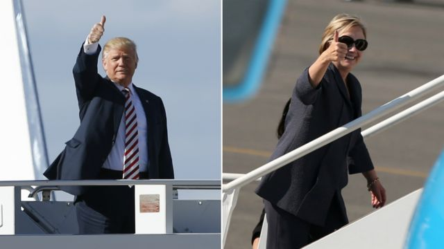 Trump na Clinton