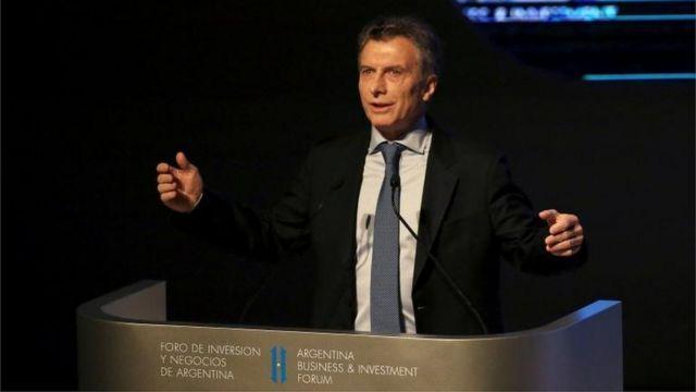 Mauricio Macri habla en el Mini Davos