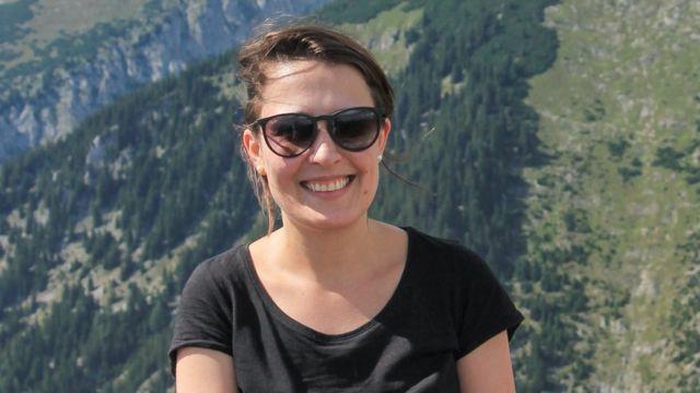 A pesquisadora brasileira Aline Soterroni, em foto tirada na Áustria.