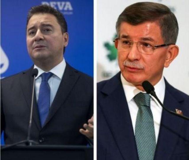 DEVA Partisi Genel Başkanı Ali Babacan ve Gelecek Partisi Genel Başkanı Ahmet Davutoğlu