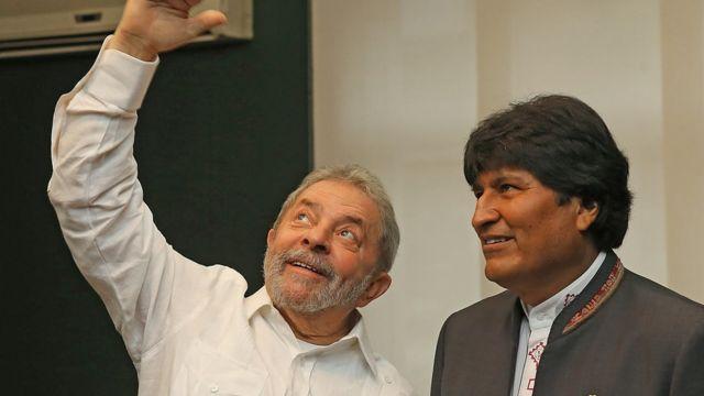 Lula e Evo em foto de 2014
