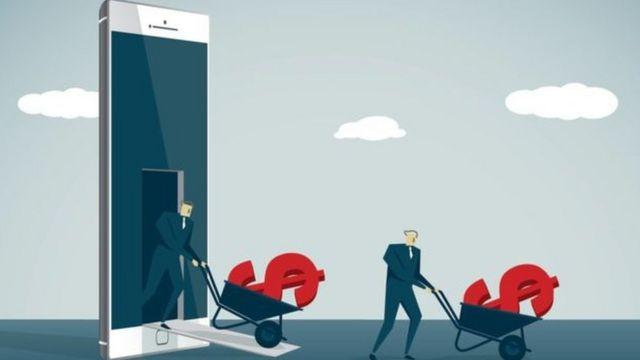 Desenho representa gastos com celular
