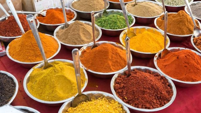 Spice market in Goa, India