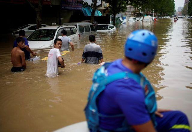 郑州三天的降雨量几乎等于一年的平均降雨量。