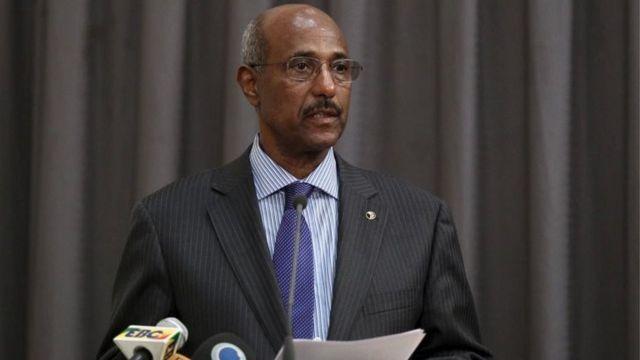 Seyoum Mesfin wuxuu Wasiirka Arrimaha Dibadda ee Itoobiya ayaa intii u dhaxeysay 1991-kii ilaa 2010-kii