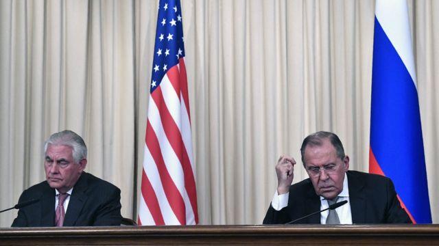 Рекс Тиллерсон и Сергей Лавров
