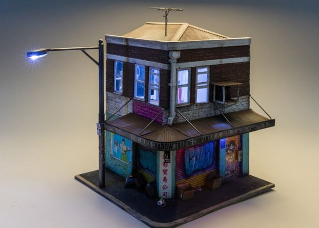 A small model of a building