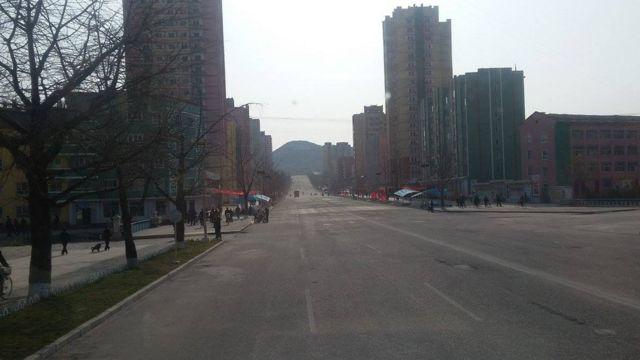ઉત્તર કોરિયાના માર્ગોની તસવીર