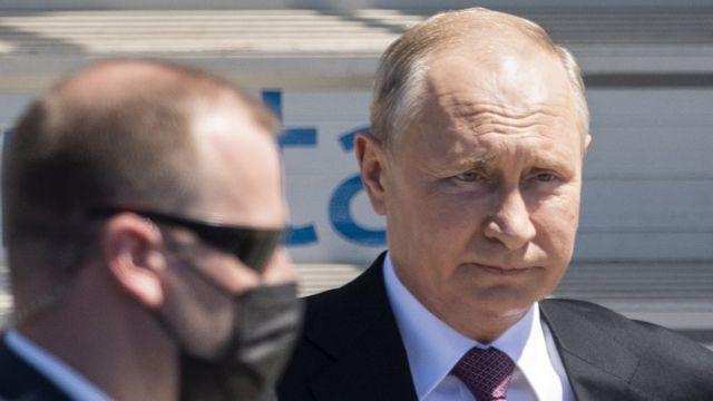 Путин в аэропорту Женевы