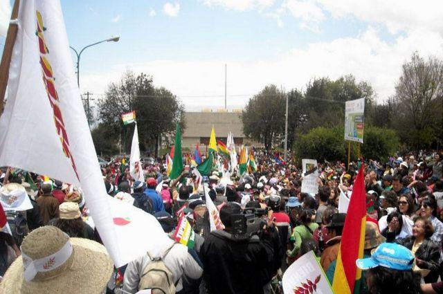 Marcha de 2011 ingresa a La Paz