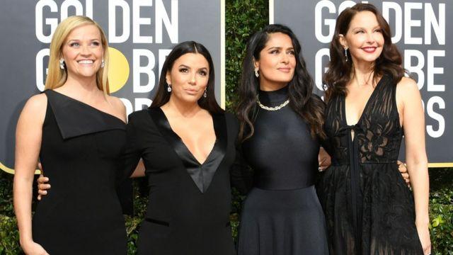 Actresses Reese Witherspoon, Eva Longoria, Salma Hayek and Ashley Judd