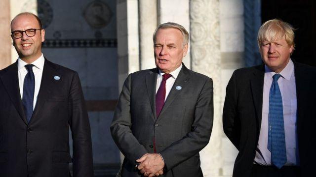 """Министры на встрече стран """"большой семерки"""""""