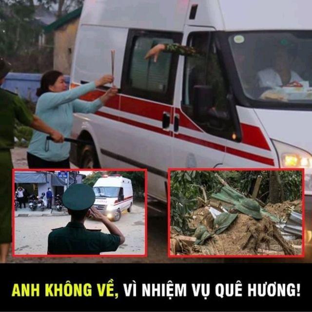Những hình ảnh xúc động của sự cố tại Rào Trăng