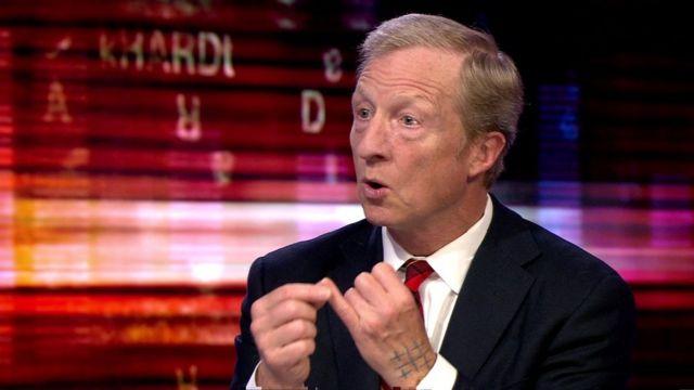 Tom Steyer fue entrevistado en el programa Hardtalk de la BBC en junio de 2019
