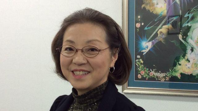 日本を代表する漫画家のひとり、竹宮惠子さん。2016年1月13日、京都精華大学学長室で。