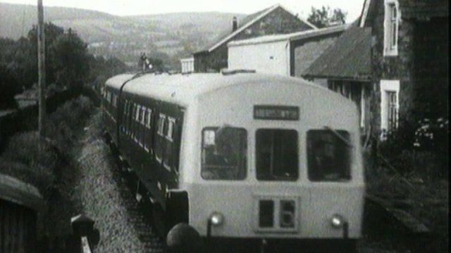 Train passing Carno station in previous years