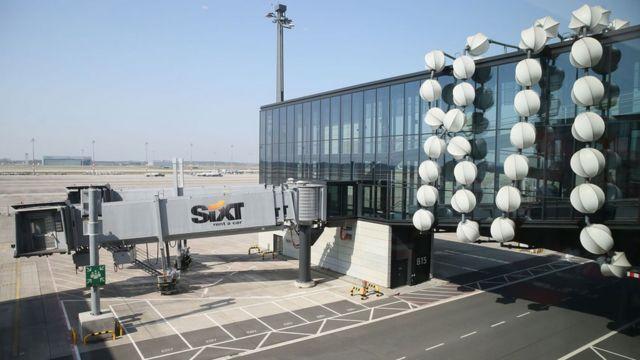 A passenger ramp Berlin Brandenburg International Airport, 2018