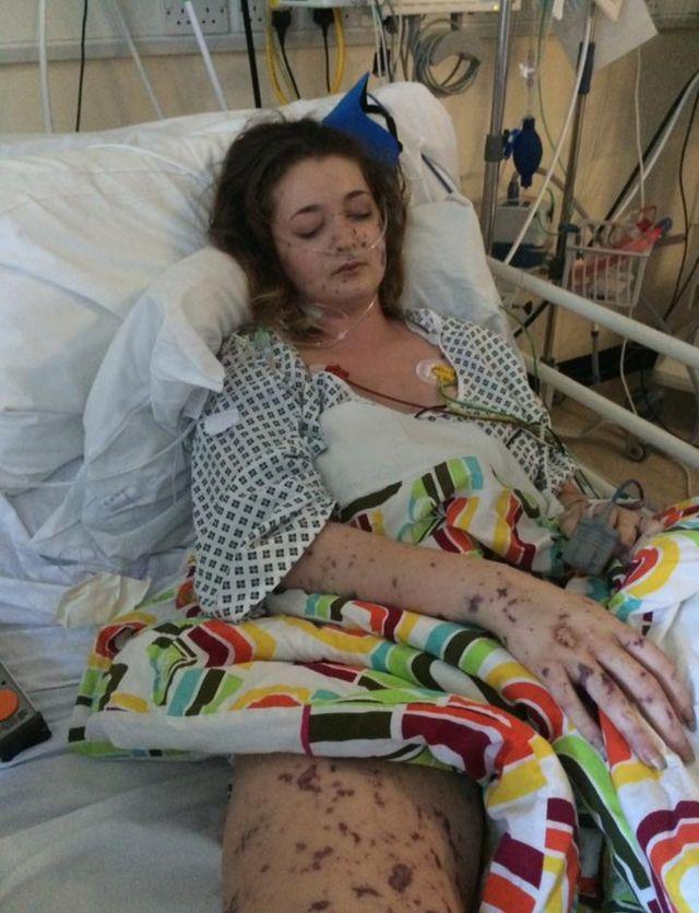 Charlene Colechin no hospital