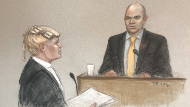 Ilustración del juicio de Emilie Cilliers
